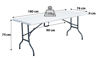 Table pliante 180cm_2