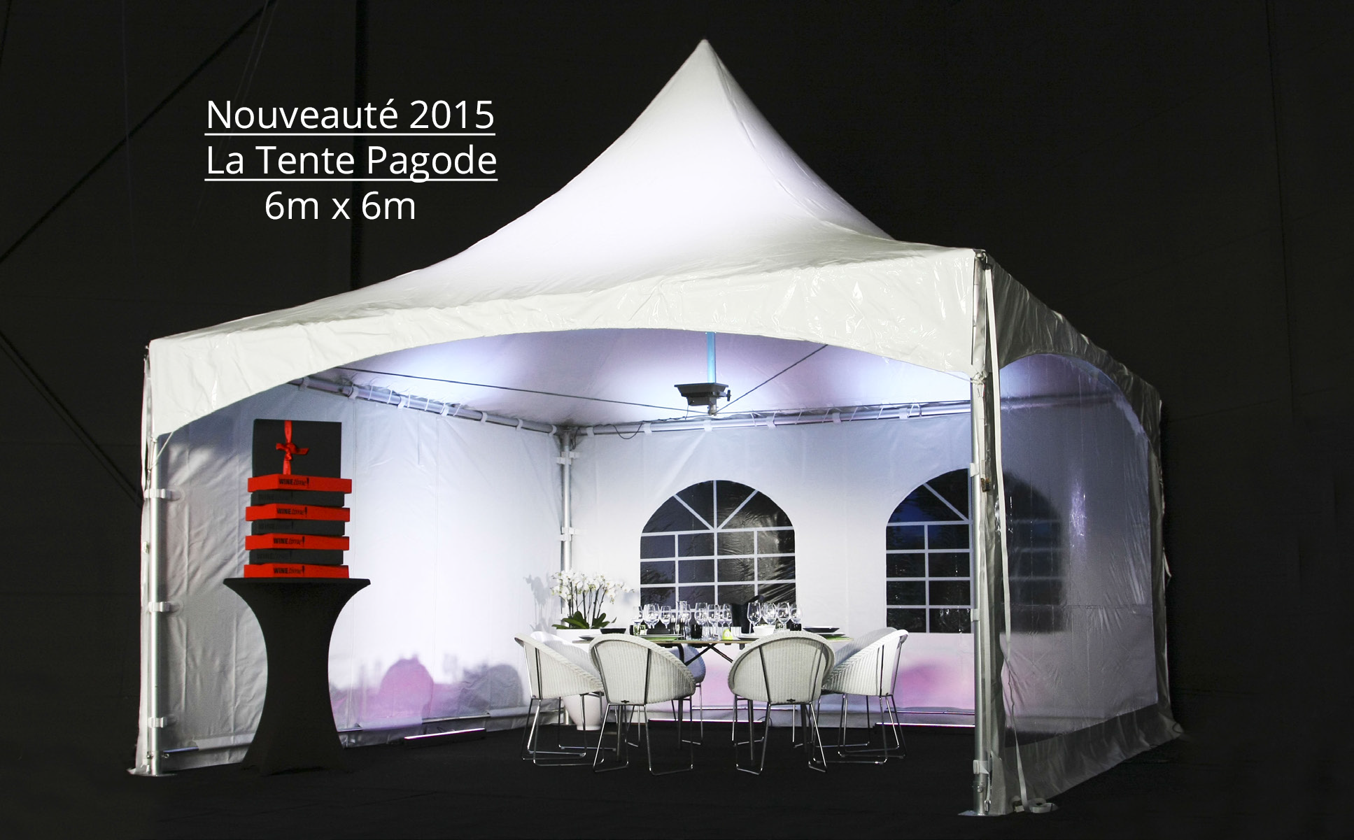 Location Pagode 6x6m
